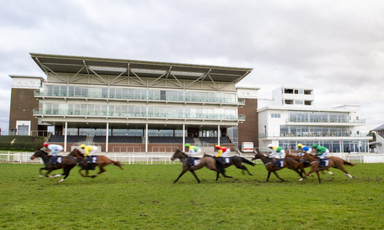 Racing took place behind closed doors at Wetherby in March