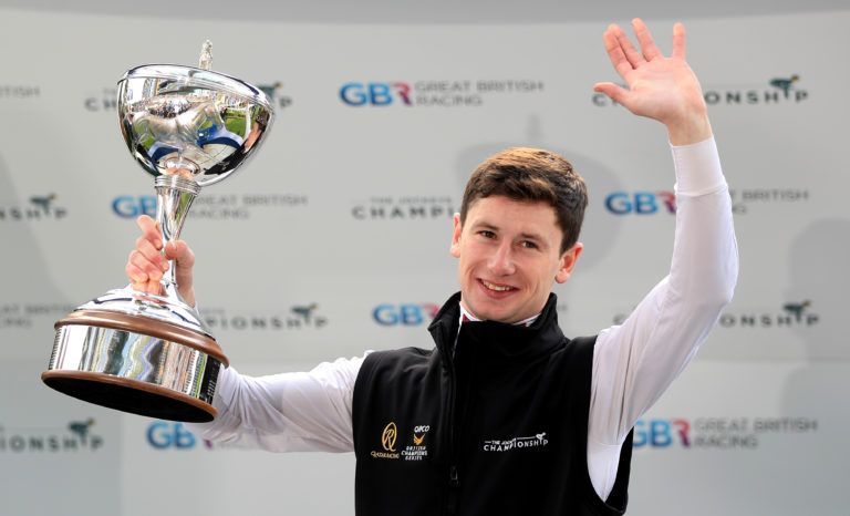 Champion jockey Oisin Murphy will be in action at Newcastle