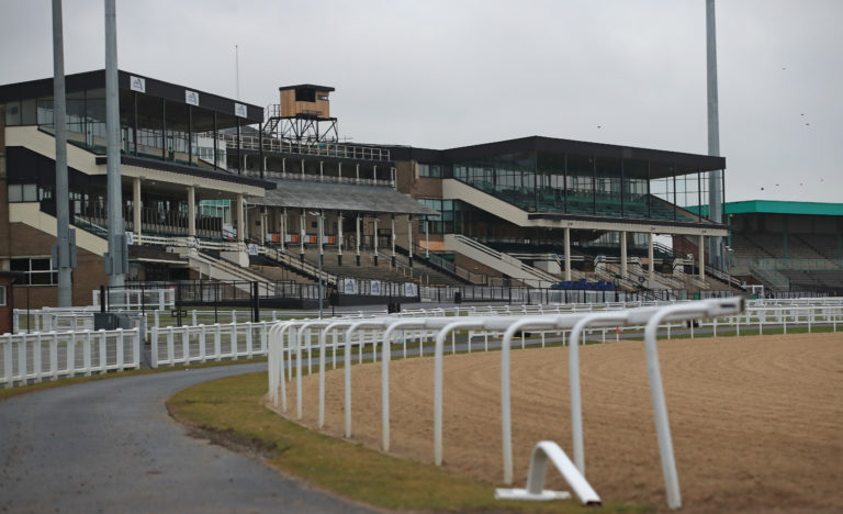 Strict social-distancing measures will be in place for the resumption of racing at Newcastle