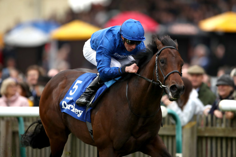 Pinatubo completed the perfect season with victory in the Dewhurst Stakes