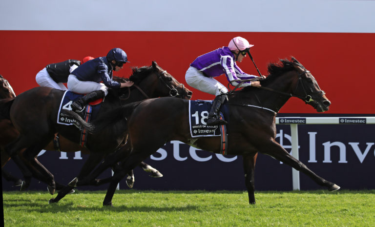Wings Of Eagles was another big-priced Derby winner for O'Brien