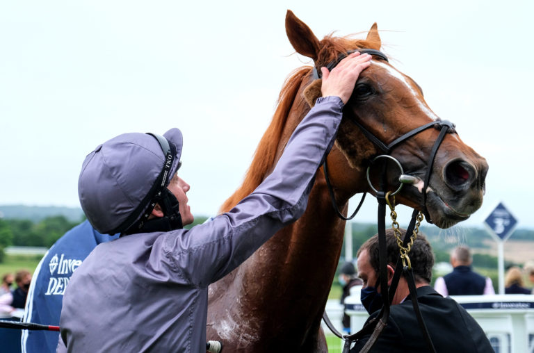 A well-deserved pat for Serpentine from a delighted Emmet McNamara
