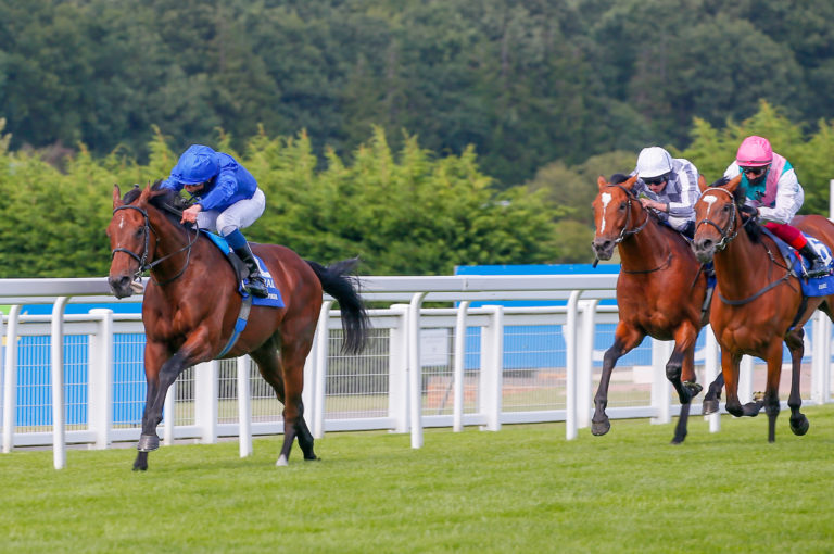 Japan (in white) and Enable were both behind Ghaiyyath in the Eclipse last time out