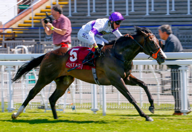 Supremacy winning the Qatar Richmond Stakes at Goodwood