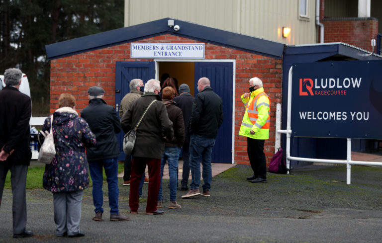 There were queues at the entrance at Ludlow