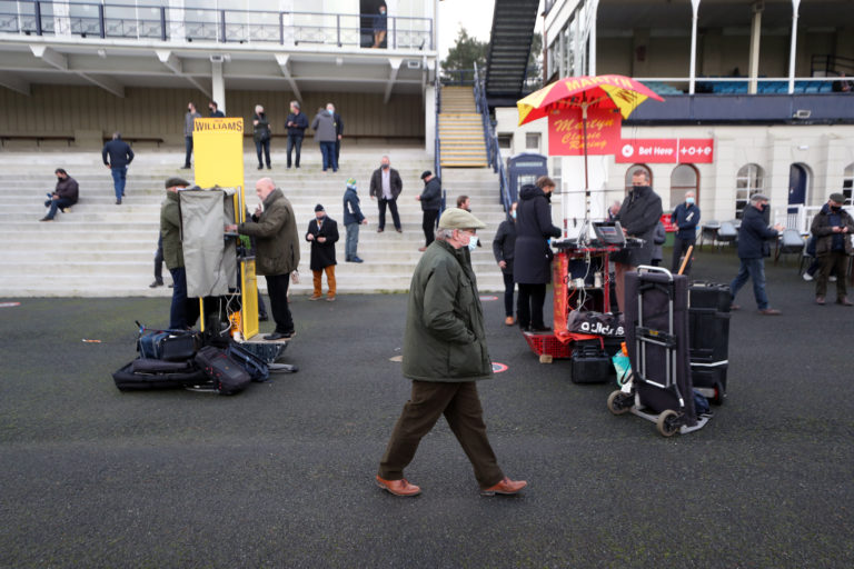 Bookmakers in action as crowds returned at Ludlow