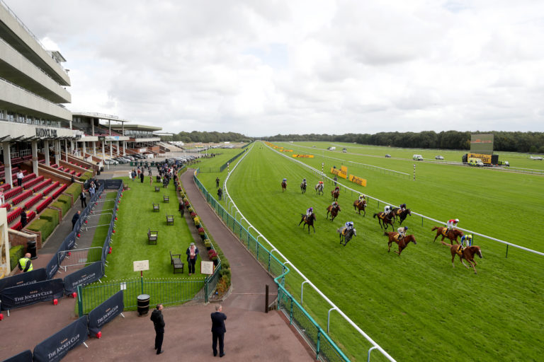 There were a lot more people on track at Haydock than for Sprint Cup day in September