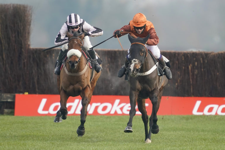 Elusive Belle (right) may bid to mark the 10th anniversary of Long Run's Gold Cup glory in style at Cheltenham this year