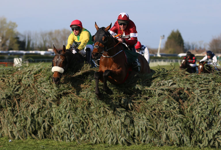 Tiger Roll (right) is still on course to bid for a Grand National hat-trick at Aintree in April