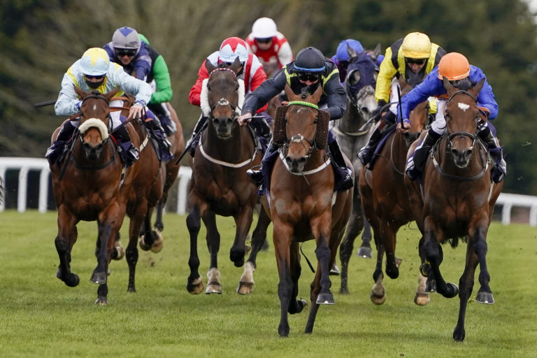 Clog Na Fola (centre) was a memorable winner for owner Nick Ayliffe