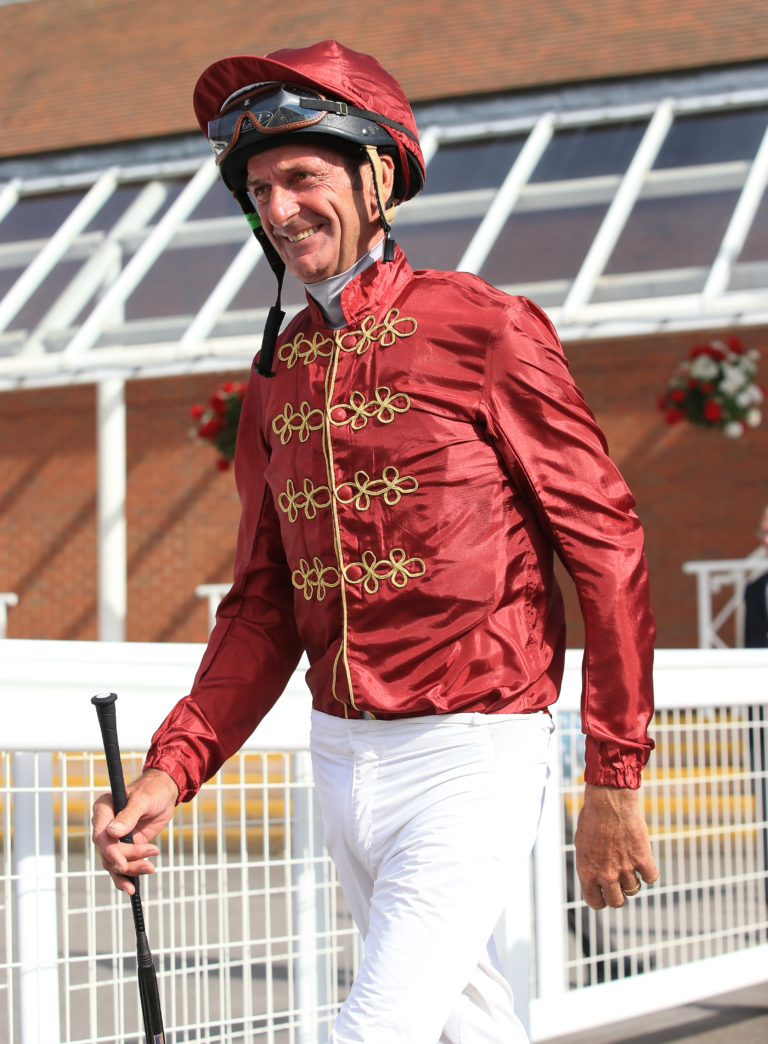 Sir Mark Todd prior to the George Frewer Celebration Sweepstake charity race at Newbury