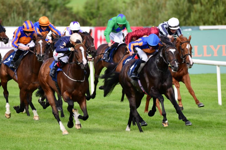 Champers Elysees (left) gave Johnny Murtagh a memorable win on Irish Champions Weekend