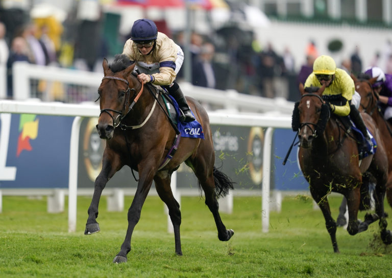 Mehmento powers away to win at Epsom on Oaks day