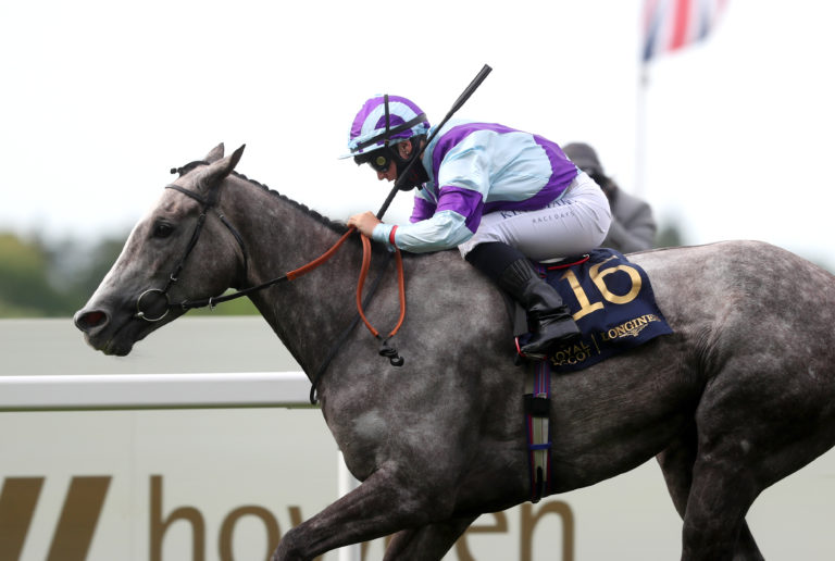 Laura Pearson is still a 5lb claimer, but Royal Ascot star too as she became just the forrth female jockey to win at the meeting - at her first attempt, on Lola Showgirl for trainer David Loughnane in the closing Kensington Palace Stakes