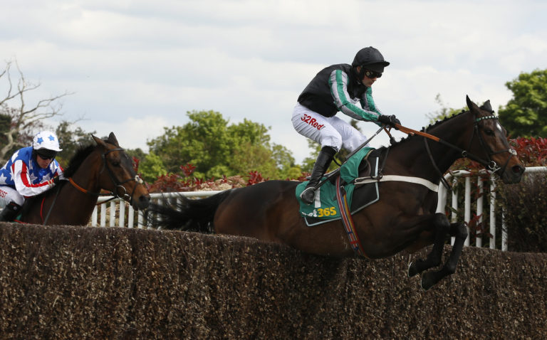 Altior leads Champion Chaser Special Tiara over the last - he was still a novice