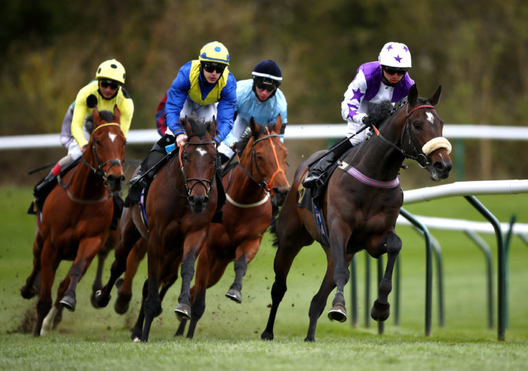 Astro King (second left) on his way to victory at Nottingham in April