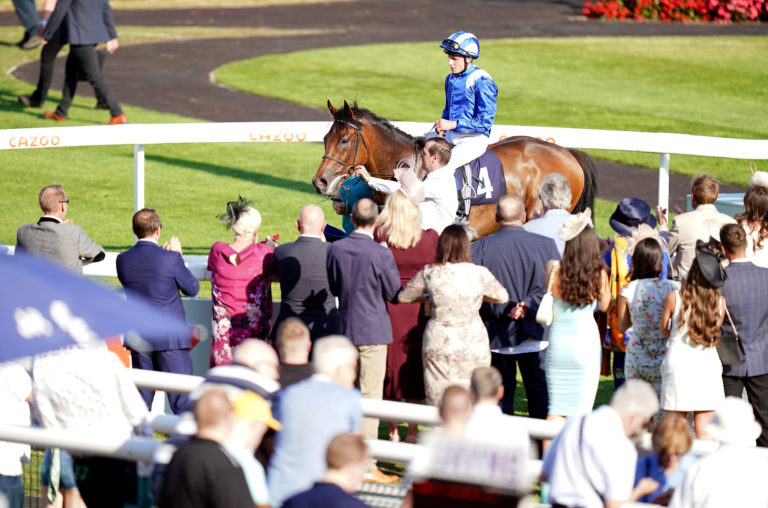 Anmaat pictured before his Doncaster run