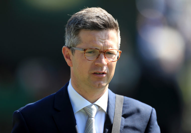 Roger Varian won the opening race at Newmarket with Miss Carol Ann